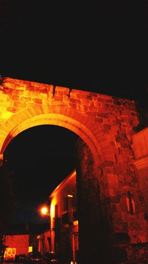 Ancient Architecture In The Medieval City At Night Light And Dark