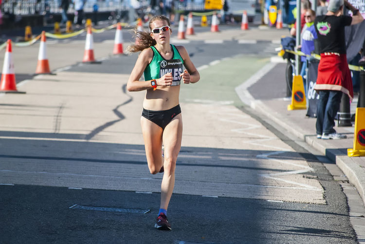 Great South Run 2018 Sport Runner Running Race Fitness Female Runner Woman Race Southsea Portsmouth Hampshire  England Sport Young Women City