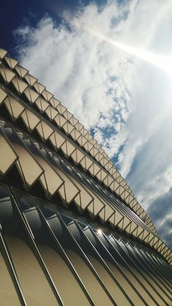 Low Angle View Built Structure Architecture Cloud - Sky Sky Outdoors Bilbao San Mamés Stadium San Mames Stadium Skyscraper Building Exterior No People White Color White Minimalist Architecture The Architect - 2017 EyeEm Awards