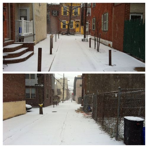 Philly's first snowfall of 2015 ATouristInMyOwnCity TheSidewalksOfTheCity ItsCold,Bitch FreezingMyAssOff