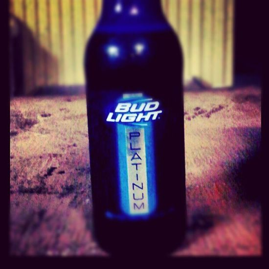 A beer after a long day. Budlight Platinum ENJOI Herewego