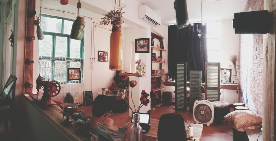 Window Vietnam Vietnamese Cafe Cafe Time Coffee Shop Relaxing Books Architecture Hanging Boutique