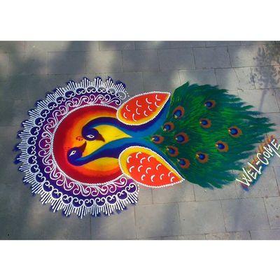 Rangoli Indian Folk Art Instagram Puneinstagramers Punekar Fabulous Instalike College Picoftheday NoEdits