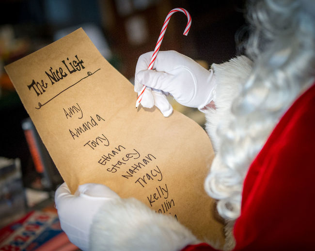 ©Amy Boyle Photography Adult Adults Only Close-up Day Doctor  Hospital Human Body Part Human Hand Indoors  Nice List One Person Paper People Reminder Santa Santa Claus Shopping Shopping List Text