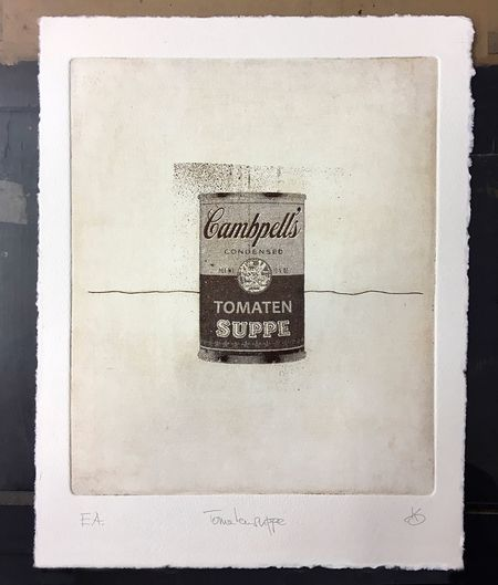Tomatensuppe Campbells Tomato Soup Campbells Tomato Soup Radierung Fotoradierung Etching Photo Etching