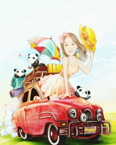 Vertical Old-fashioned Fun Car Two People Togetherness Kite - Toy Beautiful People Nostalgia Person Beach Young Women Glamour People Beauty Vacations Adult Young Adult Females Sky Momentcam Lopa One Young Woman Only Cartoonish Workmotivation