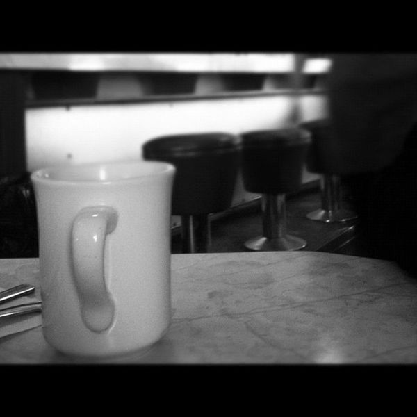 Coffee and brekky at a new place. Hasty Tasty in Orillia. Iphoneonly 3GS Badass Orillia breakfast diner blackandwhite