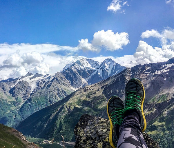 Mountain shoes dreaming Human Foot Cloud - Sky Sky Nature Mountain Mountain Shoe Low Section Personal Perspective Shoe Person Mountain Range Scenics The Color Of Sport Sky Leisure Activity Blue Idyllic Nature Beauty In Nature Human Foot Non-urban Scene Day Cloud - Sky First Eyeem Photo