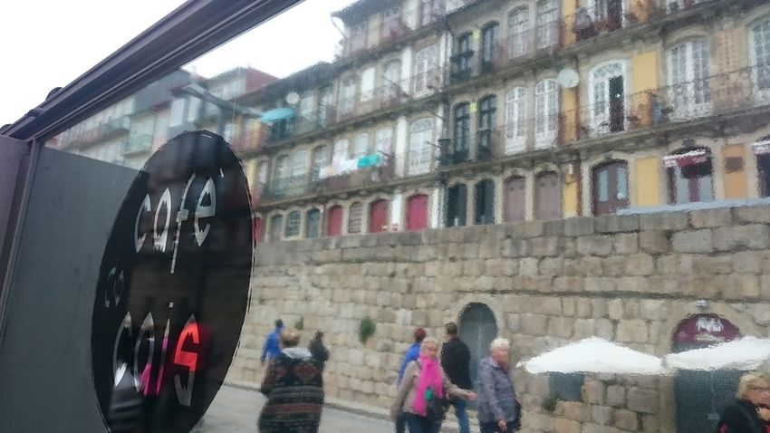 Architecture Cafe Day Mirror Real People Reflection Streetphotography Tenement Houses
