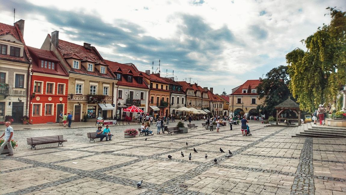 Building Exterior Architecture City Sky Outdoors Travel Destinations Sandomierz Traveling Travel Travel Photography Walking Around Taking Photos Hello World Relaxing Enjoying Life Landscape_photography Old-fashioned Architecture