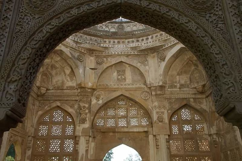 Jami Masjid, World Heritage Site, Champaner_Pavagadh Gujarat Mughal Hindu Architechture Indoors  Arch Architecture Place Of Worship No People