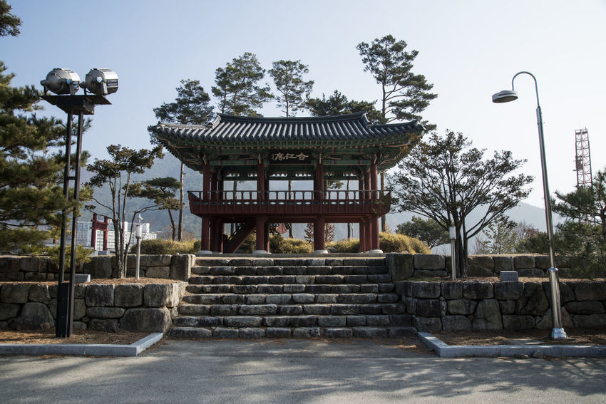 Hapgangjeong, Injegun, Gangwondo, South Korea Architecture City Day Historic Place No People Outdoors Pavilion Sky Tree Vacations