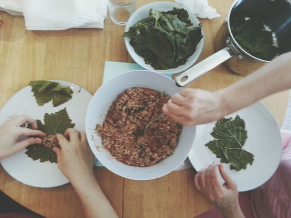 Stuffed vine leaves Food Cooking Traditional Cooking.