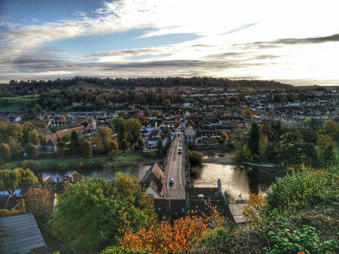 High Angle View Cloud - Sky Outdoors Cityscape Castle Hill Old Town Severnvalley Bridgnorth High Town Severn River Landscape Photography Autumn🍁🍁🍁 Autumn Walk No People Severn Bridge SevernBridge
