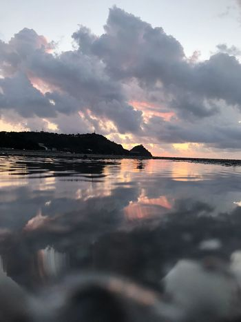 Capo D'Orlando Water Sky Reflection Cloud - Sky Sea Tranquility Beauty In Nature Nature Scenics - Nature Sunset Non-urban Scene Outdoors Beach Tranquil Scene No People