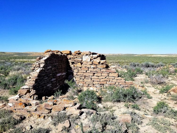 Abandoned Places Military History Ft. LaClede Ruins Red Desert The Great Divide Wyoming Landscape Clear Sky Blue Sunlight Sky Grass Landscape Desert