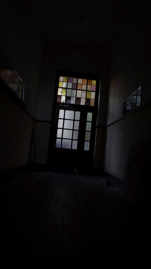 The Way Out WHOOOOO Window Indoors  Architecture No People Building Day Built Structure Dark Empty Absence Domestic Room Flooring Sunlight Copy Space Glass - Material Abandoned Entrance Door Darkroom Ceiling Schummrig Interior Leave The Sunshine Out