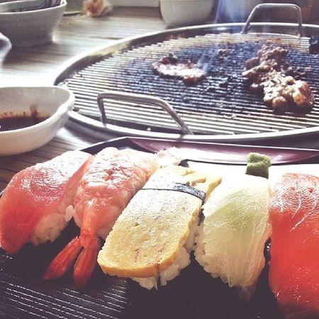 cute sushis at wakamatsu yakiniku . :) Foodporn Glutton Japanese  Itadekimasu instababoy