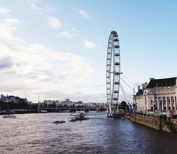 London eye Ferris Wheel Amusement Park Arts Culture And Entertainment Amusement Park Ride Built Structure