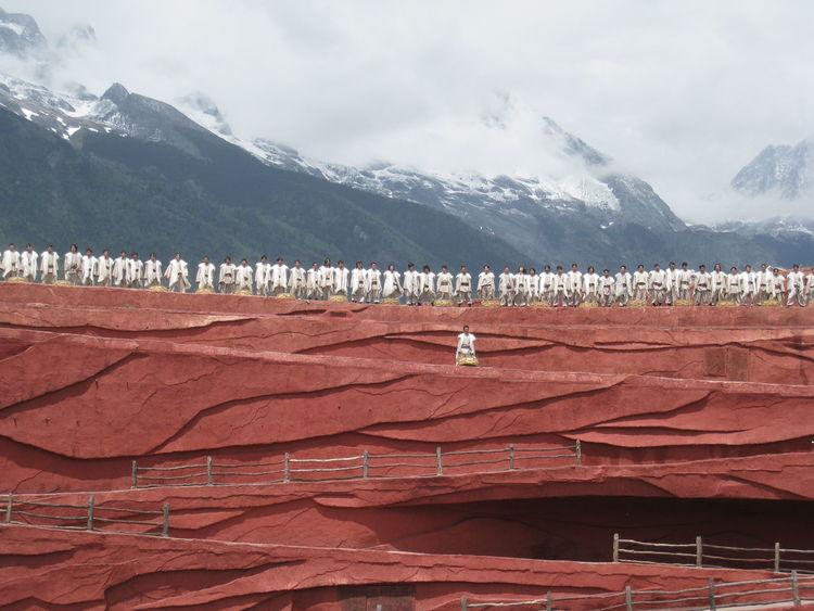 China Cloudy Sky Happy Impression Mountain Mountain Range Shangrila Travel Destination Show