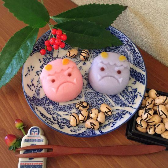 節分 節分の日 和菓子 ねりきり 練り切り おやつ