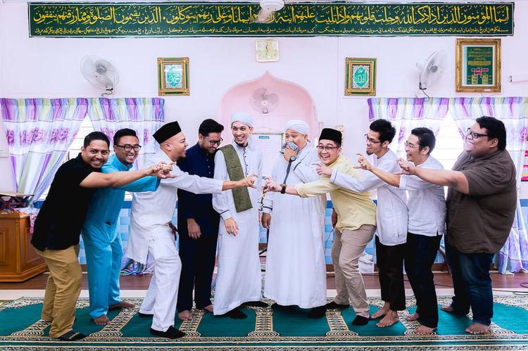 School Mates Get Married Mid Adult Indoors  Cheerful