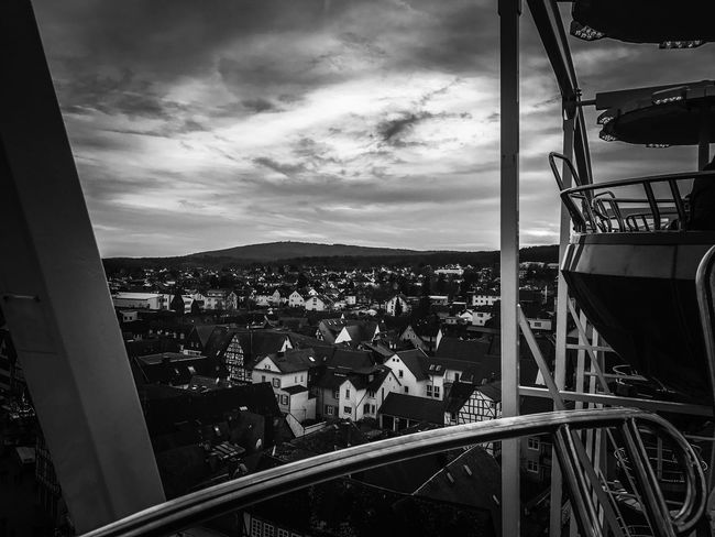Riesenrad Sky Architecture City Ferris Wheel in Butzbach Germany Darksky Blackandwhite Riesenrad Weltuntergang Cloud - Sky Outdoors Built Structure Clouds Heaven Skyporn Jahrmarkt Funfair Funfair Streetphotography