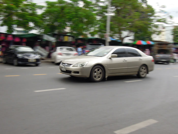 View of vehicles on road