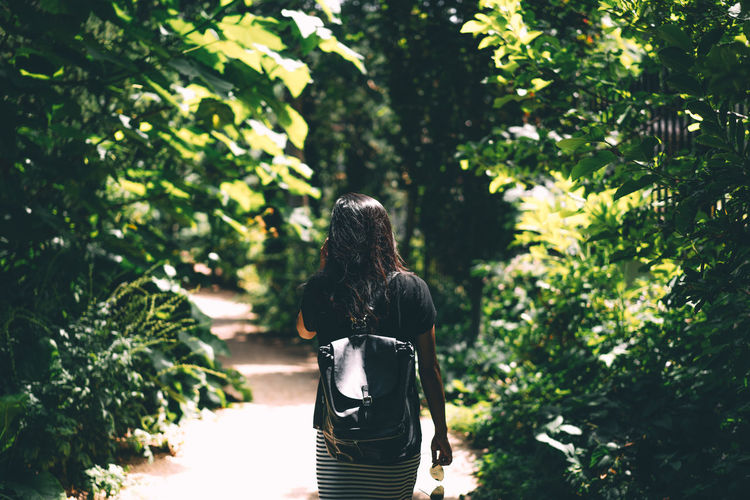 EyeEm Selects Fashion Green Nature Rear View Sunlight The Week On EyeEm Candid Day Depth Of Field Girl Lifestyles Light And Shadow Nature_collection Outdoors Portrait Real People Style Summer Sun Three Quarter Length Women Young Adult