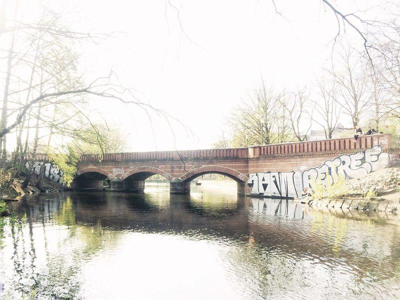 solace of affection. Kreuzberg Berlin Canal Bridge Mystory Water