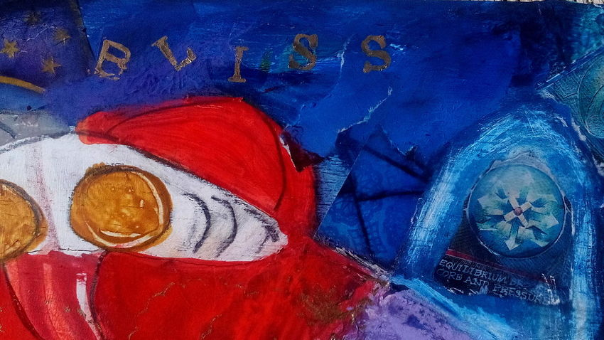 Bliss... A work in progess (detail) Bliss Art Detail Mixed Media My Art I Love Art Heather Fifield A Work In Progress.... Mixed Media Skwirrel Heaven