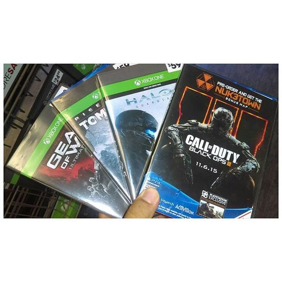 These games are you serious Tombraider Gearsofwar Blackops3 Halo5guardians let's get it in you know 🎮🎮🎮Like4like Like4follow