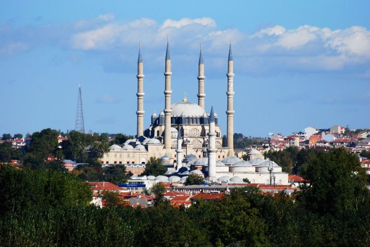 Architecture Built Structure Building Exterior Sky Cloud - Sky Plant Building Nature City No People Travel Destinations Dome Place Of Worship Religion Day Tree Travel Belief History Outdoors Cityscape Selimiyemosque Selimiyecamii Selimiye