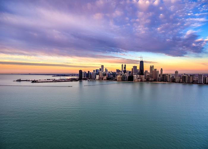 Chicago Good Morning Chicago Architecture Chicago ♥ Architecture Sunrise_sunsets_aroundworld Sunrise Sunrise And Clouds