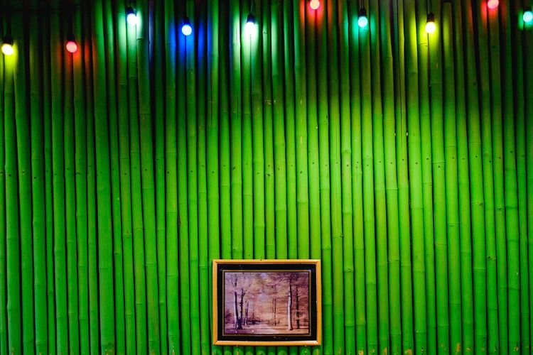Restaurant Led Lights  Streetart Streetphotography Thai Food Minimalism Thai Restaurant Thailand Painting Green Color Pattern Backgrounds Architecture Multi Colored Full Frame Built Structure No People Day Close-up