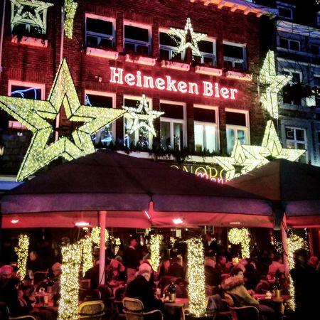Christmas Christmas Decoration Illuminated Maastricht Vrijthof Night Limburg Nederland