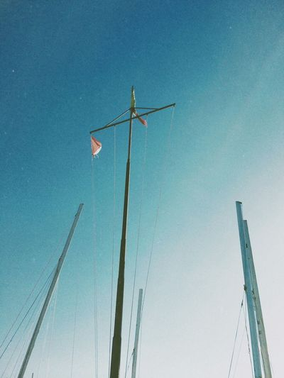 reunion Low Angle View Sky Blue Nature No People Clear Sky Day Outdoors Tall - High Flag Lighting Equipment