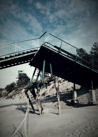 Outdoors Day No People Mobilephotography Mobilephoto Metal Structure Wood Structure Beach Beach Structure