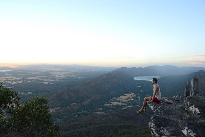 Australia Grampians Hill Horizon Over Land Landscape Man Mountain Mountain Range Outdoors Scenics Tranquility VOID Young Man