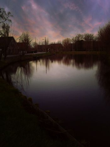 Showcase: February Dark Clouds Dutch Landscape Pond Country Road Landscapes With WhiteWall