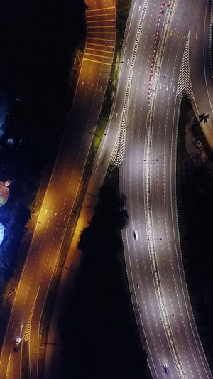 Highway Photography Highway Nightlife Cityscape City Night Photography Drone  Drone Photography Midnight High Angle View No People Illuminated Night Paths Of Life The Week On EyeEm Architecture Road