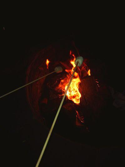 Bonfire Fire S'mores Summer Summertime Backyard Outdoors