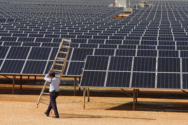 Carrying Ladder SecurityGuard Walking Around Adult Alternative Energy Electricity  Electricity Generation Environmental Conservation Maintenance One Person Passing By Photovoltaic Renewable Energy Rows Of Solar Panels Rows Of Things Security Guard Solar Energy Solar Farm Solar Panel Sun Sunlight