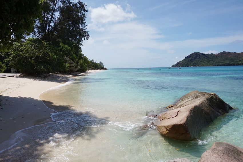 Hello World Hello Seychelles Hello Praslin Beach Nature Beauty In Nature Water Sky Sand Day Outdoors No People Bay Ocean Traveling Exploring Taking Pictures Click Click 📷📷📷 Paradise Rocks Real Life Enjoying Life Colorful Colorsplash Seychelles Been There.