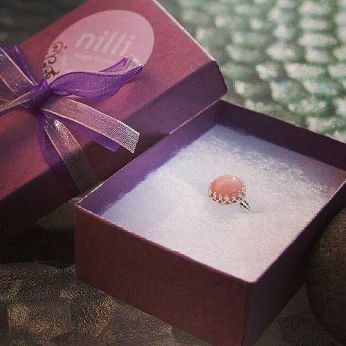 Silversmycken ring med opal Presenttips