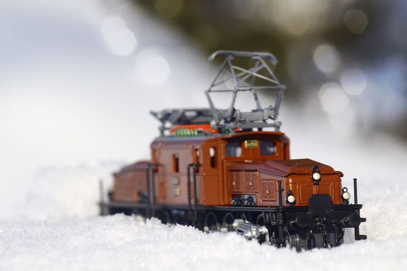 Train in winter wonderland Crocodile Locomotive White Vehicle Toy Train Snow Winter Cold Temperature Weather No People Nature Frozen Mode Of Transport Outdoors Day Transportation Snowdrift Land Vehicle Snowflake Close-up