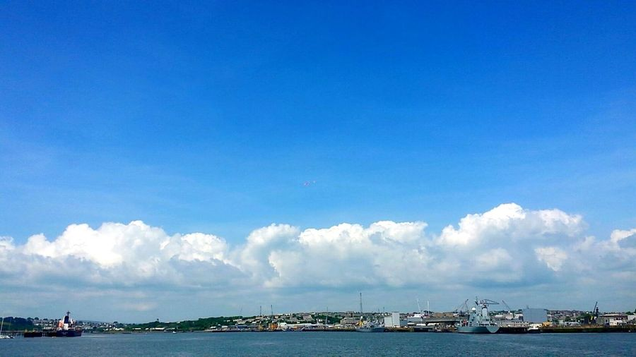 Clouds Sun Taking Photos Shadows Creative Phoneography Photooftheday Popular Photos I Love My City Torpoint PhonePhotography Simplistic Beautiful Sky Love Cloud New Sea Water Boat Plymouth City Enjoying Life Relaxing My Favorite Photo