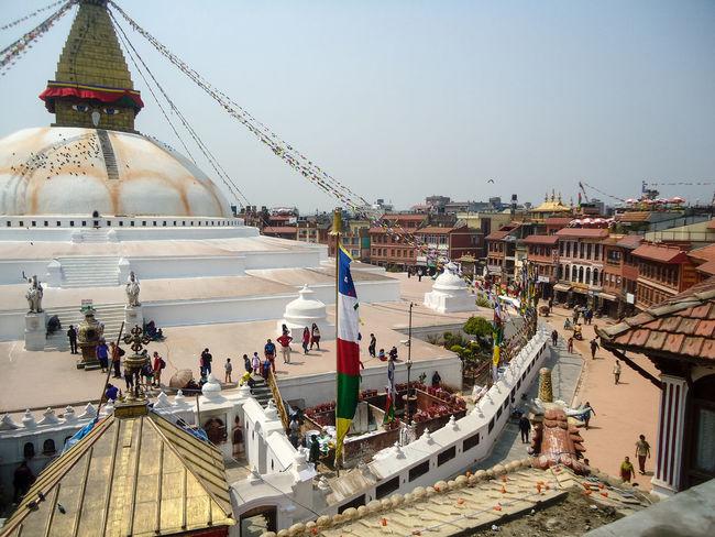 Bodnath Buddhism Culture Fahnen Gebetsfahnen Glaube Glaube Und Religion Kathmandu Kathmandu, Nepal Overview Place Platz Religion Stupa Tempel Temple Z