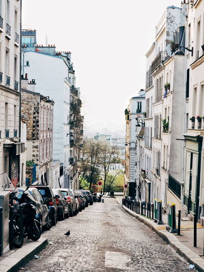 The Way Forward Outdoors Day Built Structure Architecture Building Exterior No People City Sky Alleyway Paris Streets Quiet Moments Montmartre, Paris Paris Montmartre Cobblestone Empty Streets Early Morning Cathedral City Architecture