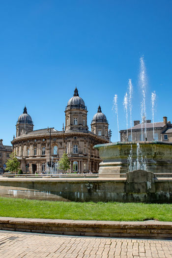 Hull Maritime Museum with Fountain in Foreground England, UK Hull Hull City Of Culture 2017 Yorkshire Architecture Building Exterior Built Structure Maritime Museum Outdoor Travel Destinations Uk